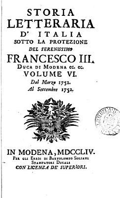 Storia letteraria d Italia PDF