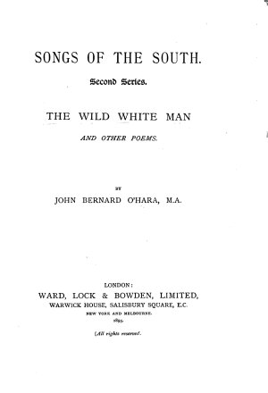 The Wild White Man  and Other Poems