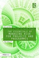 The Essentials of Managing Risk