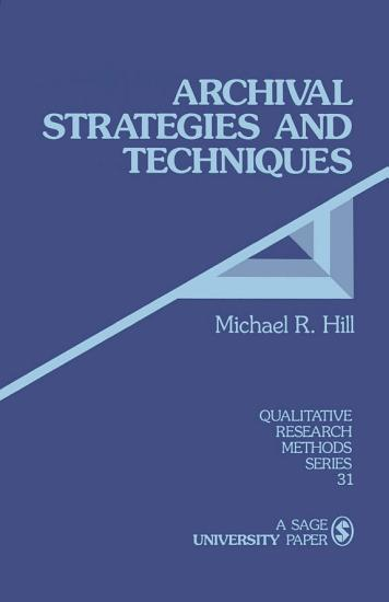 Archival Strategies and Techniques PDF