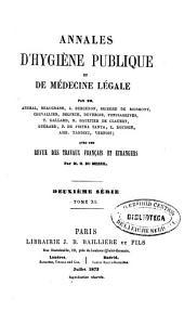 Annales d'hygiène publique et de médecine légale: Volume40