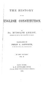 The History of the English Constitution: Volume 2