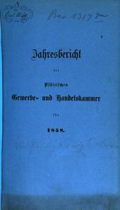 Jahresbericht der Pfälzischen Gewerbe- und Handelskammer: 1858