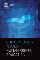 Contemporary Issues in Human Rights Education PDF