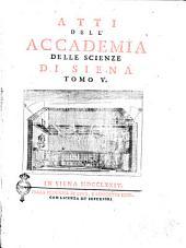 Atti dell'Accademia delle scienze di Siena detta de' Fisiocritici