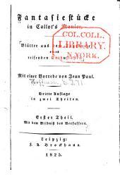 Fantasiestücke in Callot's manier: Blätter aus dem tagebuche eines reisenden enthusiasten, Bände 1-2