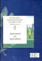 Multilateral Trade Negotiations on Agriculture PDF