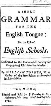 A Short Grammar for the English Tongue: for the use of schools