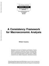 A Consistency Framework for Macroeconomic Analysis: Volume 234