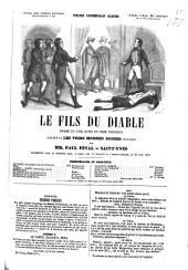 Le fils du diable: Drame en cinq actes et onze tableaux, précédé de Les trois hommes rouges, prologue, par Paul Féval et Saint-Yves. [d. i. Édouard Deadde] Représenté pour la 1. fois, à Paris, sur le Théâtre de l'Ambigu-Comique, le 24 août 1847