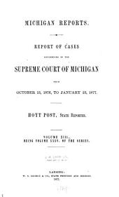 Michigan Reports. 1. VOL. 1-200 ONLY: Volume 35
