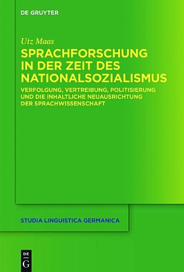 Sprachforschung in der Zeit des Nationalsozialismus PDF