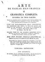 Arte de hablar bien frances    Gramatica completa dividida en tres partes PDF