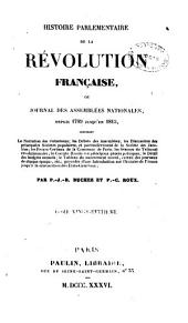 Histoire parlementaire de la révolution française, ou journal des assemblées nationales, depuis 1789 jusqu'en 1815: Volume28