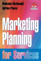 Marketing Planning for Services PDF