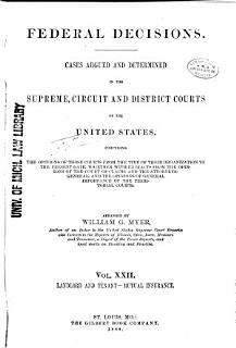 Federal Decisions Book