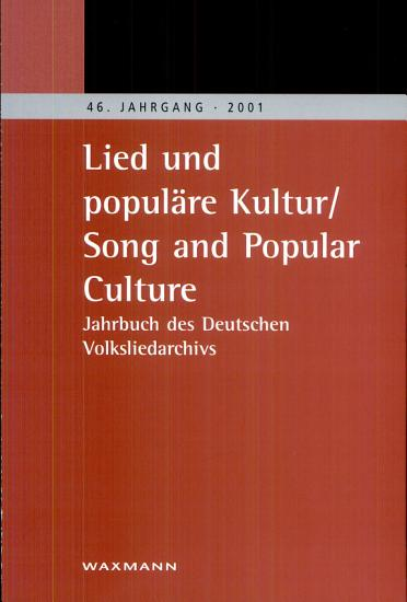 Lied und popul  re Kultur Song and Popular Culture PDF