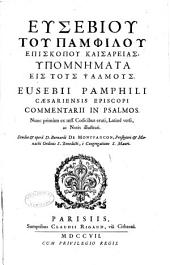 Eusebii Pamphili Commentarii in Psalmos