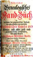 J  hrliches genealogisches Handbuch PDF