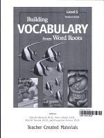 Building Vocabulary  Grade 5  Kit eBook PDF