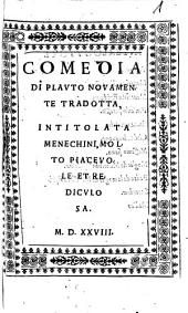 Comedia di Plauto novamente tradotta intitolata Menechmi