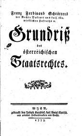 Grundriss des österreichischen Staatsrechtes