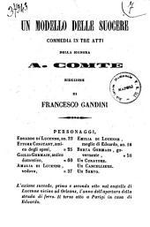 Un modello delle suocere commedia in tre atti della signora A. Comte