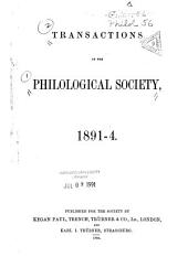 Transactions of the Philological Society: Volume 29