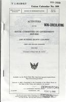 Activities of the House Committee on Government Reform PDF