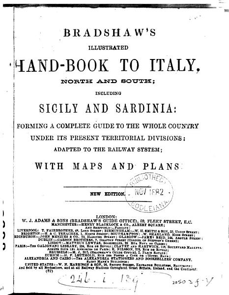 Bradshaw s illustrated hand book to Italy