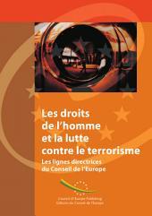 Les droits de l'homme et la lutte contre le terrorisme: les lignes directrices du Conseil de l'Europe