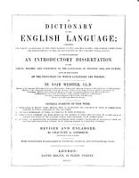 A Dictionary of the English Language PDF