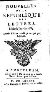 Nouvelles de la republique des lettres: Volume1