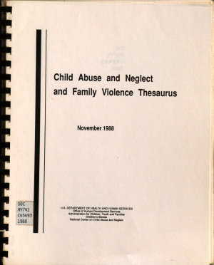 Child Abuse and Neglect and Family Violence Thesaurus PDF