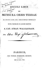 Liber de mensura orbis terrae: ex duobus codd. MSS. Bibliothecae imperialis