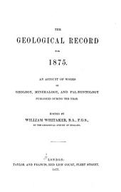 The Geological Record for ...: Volume 2