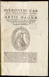 Liber unus ... Artis magnae sive de regulis algebraicis