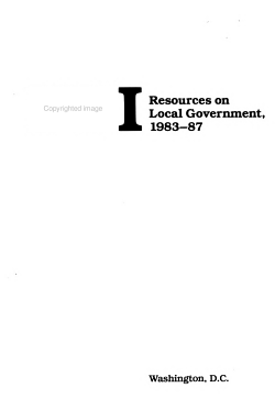 FYI Resources on Local Government  1983 87 PDF