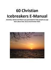 Christian Icebreakers ; Christian Games Benefits Childrens Church