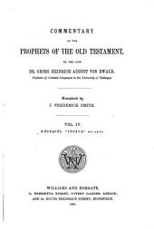 "Commentary on the Prophets of the Old Testament: Commentary on the books of He'zeqiél, ""Yasaya,"" XL-LXVI"
