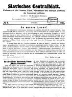 Slavisches Centralblatt PDF