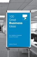 100 Great Business Ideas  From Leading Companies Around the World  100 Great Ideas  PDF
