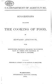 Suggestions Regarding the Cooking of Food