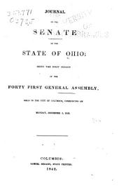 The Journal of the Senate of the ... General Assembly of the State of Ohio ...: Volume 41