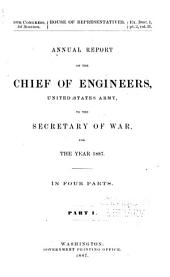 Annual Report of the Chief of Engineers to the Secretary of War for the Year ...