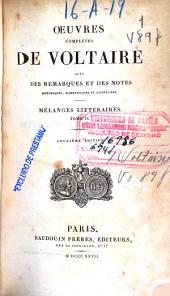 Oeuvres complètes de Voltaire: (460 p.)