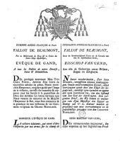 Mandement au sujet de la bataille de Friedland: Te Deum à St-Bavon