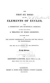 The First Six Books of the Elements of Euclid