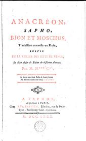 Anacréon, Sapho, Bion et Moschus