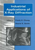 Industrial Applications of X Ray Diffraction PDF